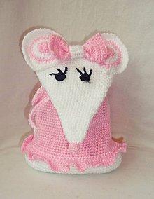 Detské tašky - Detský batoh -  biela myška - 8642273_