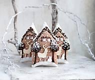 Dekorácie - Tam, kde Jelene so Zimou sušienky pečú - 8642672_