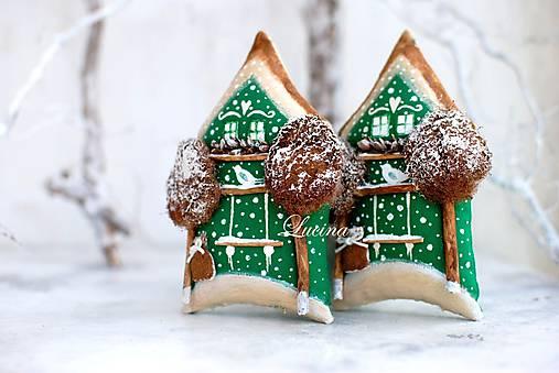 Dekorácie - Zimné mestečko  Greenery , Cinamontová ulica č.9 - 8642730_