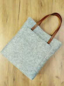 Kabelky - Filcová kabelka s kapsou - 8642507_