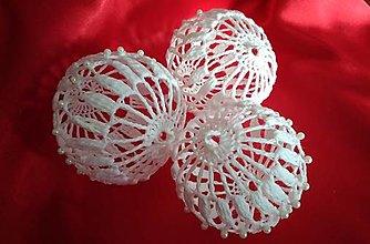 Dekorácie - vianočné háčkované gule - 8642097_