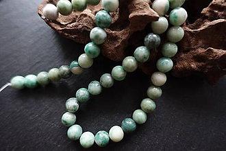 Minerály - Jadeit zelený I 8mm - 8643344_