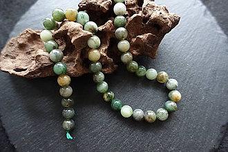 Minerály - Jadeit zelený II 8mm - 8643634_