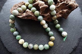 Minerály - Jadeit zelený II 10mm - 8643661_