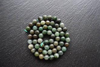 Minerály - Jadeit africký 6mm - 8643721_