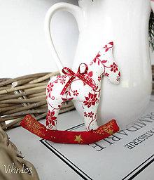 Dekorácie - Koník na vianočný stromček - 8640468_