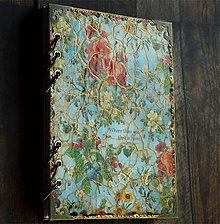 Papiernictvo - Denník,zápisník,receptár,diár tyrkysový veľkej radosti-Maky - 8643318_