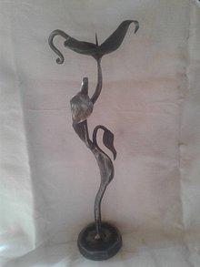 Svietidlá a sviečky - Kovaný svietnik - 8642698_