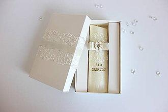Svietidlá a sviečky - Sviečka na krst zlaté písmo - 8641626_