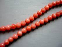 Korál růžový - vrt. kulička 6 mm, 2 ks