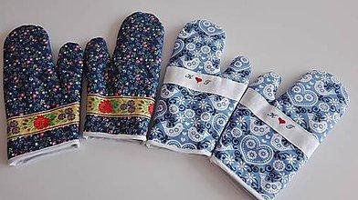 Úžitkový textil - Chňapka modrotlačová - 8643402_