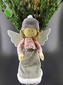 Dekorácie - Anděl dívka zimní ... dekorace - 8646106_