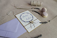 Papiernictvo - Svadobné oznámenie Levanduľa A6 - 8644603_