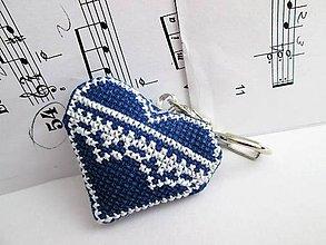 Kľúčenky - Modré srdiečko - 8645390_