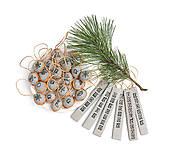 - Vianočné ozdôbky MINIMAL /  Less is more / 100% ľan sivý - 8645419_