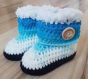 Topánočky - Modré čižmičky - 8645089_