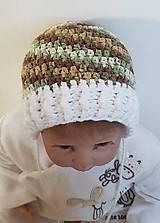 Detské čiapky - Maskáčová čiapočka - 8645215_