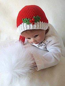 Detské čiapky - Vianočná čiapočka - 8645005_