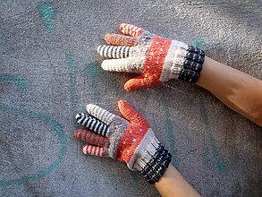 Rukavice - Prstové rukavice lososové - 8646078_