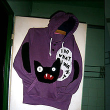 Mikiny - Mikina pískacia mačka- zľava z 24 eur - 8647360_