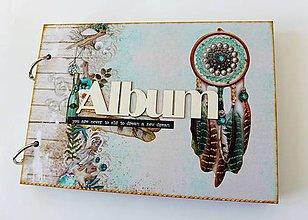 Papiernictvo - album na fotografie vo vintage štýle - 8644289_