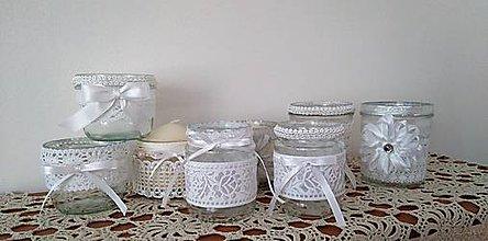 Svietidlá a sviečky - recy svadobné svietniky s ľudovým motívom - 8646068_