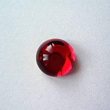 Komponenty - Sklenený kabošon 10mm-1ks (červená) - 8646554_