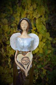 Socha - Anjel ako svadobný dar - 8645237_