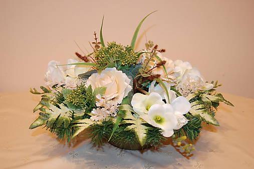 8ce61f105 Veľká ikebana na hrob maslová / gerberis - SAShE.sk - Handmade Dekorácie