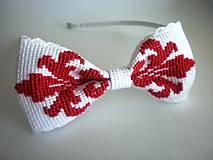 Vyšívaná folk čelenka (Červená)