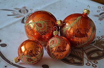 Dekorácie - Pávie pierko v oranžovom - 8645052_