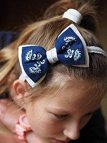 Ozdoby do vlasov - Motýlik dámsky modrotlač Nevädza - 8645226_