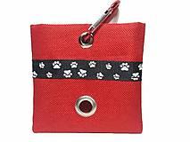 Pre zvieratká - Zásobník na WC vrecká červený - 8645049_