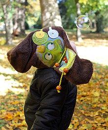 Detské čiapky - Jedinečná čiapka - žabka - 8646138_