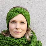 Čiapky - turbančelen najsamkrajšia zelená - 8645665_