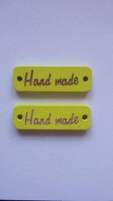 Handmade tabuľka drevená (ŽLTÁ 3 cm)