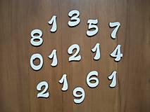 Polotovary - Drevené číslice - 3 cm - 8647307_