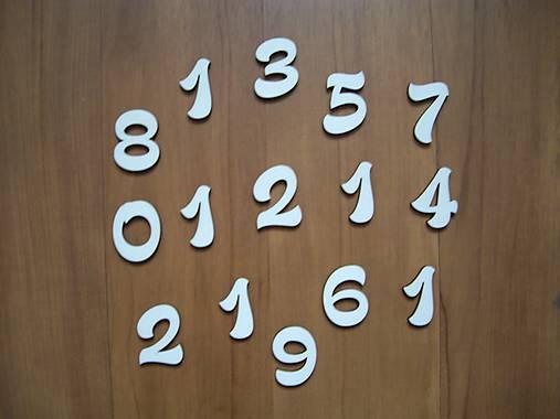 Drevené číslice - 3 cm