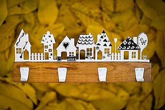 Nábytok - Vešiak - drevený jesenný štýl - 8646987_