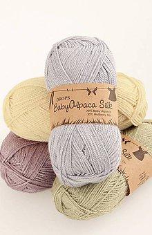 Galantéria - Priadza DROPS Baby Alpaca Silk - 8644946_