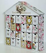 - Vianočná chalúpka adventný kalendár - 8647134_