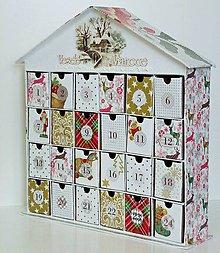 Krabičky - Vianočná chalúpka adventný kalendár - 8647134_