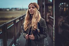 Ozdoby do vlasov - Čierna multifunkčná čelenka - 8645058_