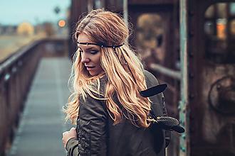 Ozdoby do vlasov - Čierna multifunkčná čelenka - 8645057_