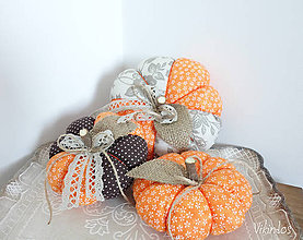 Dekorácie - Jesenné tekvičky ...sada - 8644773_