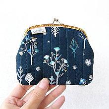 Peňaženky - Peňaženka XL Grafické stromčeky - 8644990_