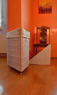 Košíky - Atypický kôš na prádlo LENKA - 8645831_