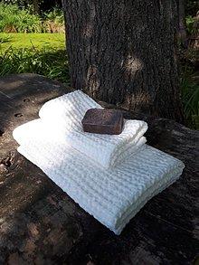 Úžitkový textil - Ľanová osuška a uterák Natural White - 8646978_