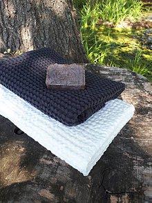 Úžitkový textil - Ľanová osuška a uterák Natural White/Gris - 8647106_