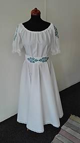 Šaty - Folk svadobné šaty s červeným srdcom ... - 8645510_